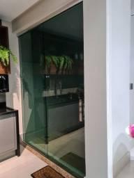 Porta de vidro temperado verde
