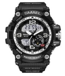 Título do anúncio: Relógio Smael Masculino Esportivo Militar Resistente Shock novo na caixa