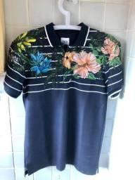 Camisa Polo Floral Zara P