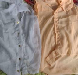 Blusas tecido fino
