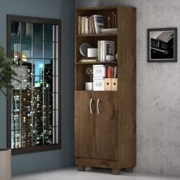 Título do anúncio: Livreiro Office Iara Cacau 2 Portas 3 Prateleiras  - Frete Grátis - Receba Hoje!
