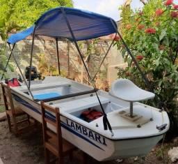 Título do anúncio: Barco de pesca Winner Life - motor de popa 5Hp - completo - pescaria - criação de peixe