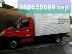 Título do anúncio: Mudanças caminhão baú