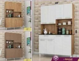 OFERTA DOMINGÃO Armário de cozinha Kit tannat 8 portas<br> *)
