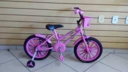 Título do anúncio: Bicicleta infantil Aro 16 Feminina