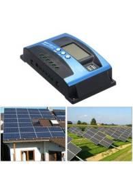 Controlador de carga solar MPPT 30A60A100A regulador carregador de painel solar automático