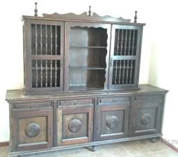 Móvel Antigo Oratório Oratorium Cristaleira de Madeira Nobre
