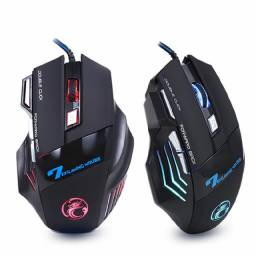 Título do anúncio: Mouse Gamer Com Fio usb RGB 5.500 DPI Ajustável, até 12x no cartão