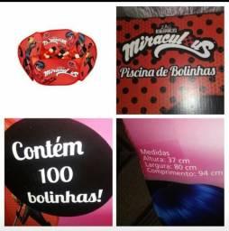 Piscina de bolinhas zippy toys miraculous vermelha