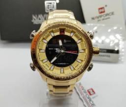 19b320d47ab Relógio Masculino De Luxo Naviforce Original Pronta Entrega