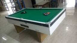 Mesa Comercial Carlin | Mesa Branca | Tecido Verde | Modelo: KUWZ9935