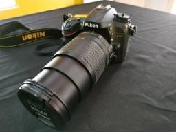 Câmera DSLR Nikon D7200 lente 18-140mm vr + SD 32gb + Mochila