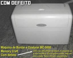 Máquina bordar e costurar Janome MC 5000 com defeito