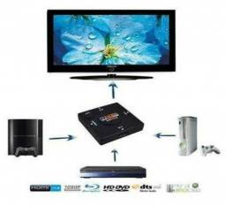Switch HDMI 3 Portas Hub HDMI 3 Entradas e 1 Saída Lacrado - Loja Natan Abreu