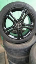 Jg roda aro 17 da original mercedes com pneus