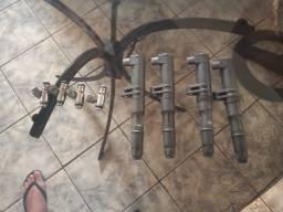 4 bicos e 4 bobinas de ignição do Renault e pegeot semi novos