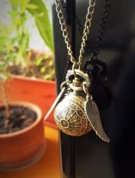 Harry Potter - Relógio de bolso e/ou Colar - Pomo de Ouro (Ótima Qualidade)