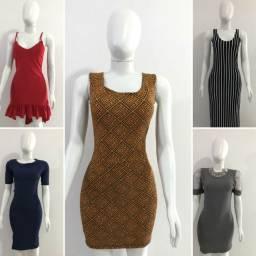 Vestido variado roupa feminina