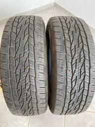 Vendo par pneu continental 225/60 aro 17 original da toro, renegade e compass