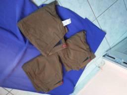 Calça marrom elastano