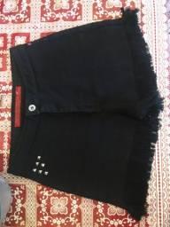 Short preto cintura alta