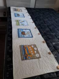 Bandô Patchwork + ataduras para cortina