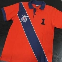 Camisa Polo Masculina Tamanho 16 Dente D' Leão Diagonal