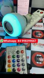 Lampada Musical Caixa Som 3w Bluetooth Led Rgb Com Controle