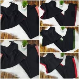 Conjunto M alça roupa feminina