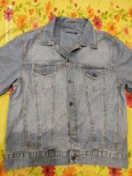 Jaqueta jeans masculina Tam G