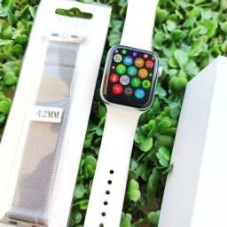Smartwatch Iwo 12 lite, tela infitina. Troca pulseira, faz/recebe ligações