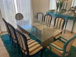 Mesa de Jantar 8 lugares + cadeiras