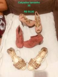 03 pares de calçados femininos - 40,00