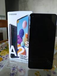 Samsung a21s, 64Gb, 4 Ram, digital, facial, tela 6.5, 4 câmera de 48Mp
