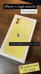 IPhone 11 64gb amarelo claro novo lacrado