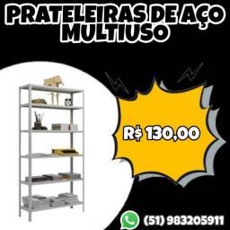 PRATELEIRAS ESTANTES DE AÇO MULTIUSO