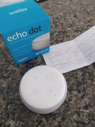 Echo Dot (3° geração): Smart Speaker com Alexa cor branca.