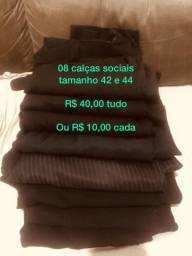 Lote com 5 calças sociais - 40,00