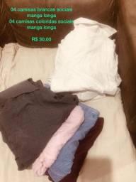 Lote de Camisas Longas Masculinas - 30,00