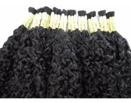 Cabelo Humano Cacheado Mega Hair Amarradinho 35cm 100grs