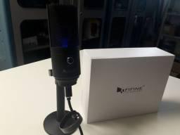 Microfone usb e interface de áudio  marca fifine