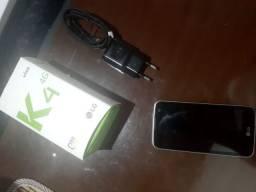 LG K4 conservado poucas marcas com Cx e acessorios.