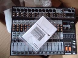 MESA DE SOM SoundCraft SX 1602 FX USB NA CAIXA C/ NOTA FISCAL! 1 MÊS DE USO!!