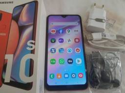 Samsung Galaxy A10s novo e completo de nota e acessórios