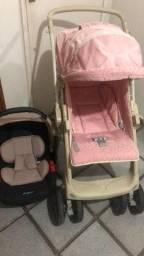 Vendo carrinho + bebê conforto PRA VENDER LOGO