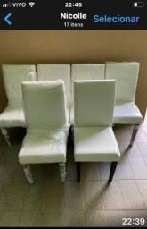 Cadeiras e mesa de jantar