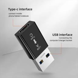 Adaptador USB-C para USB Normal Novo e Lacrado!