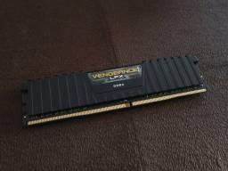 Memória Corsair Vengeance LPX, 8GB, 2400MHz, DDR4, CL16, Preto