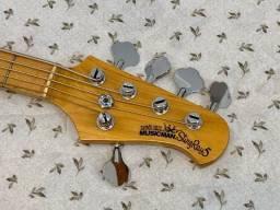 Título do anúncio: Baixo Music Man StingRay 5 Baixo ÚNICO, lindo, perfeito! Aproveite! Feito por luthier.