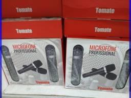 Kit 2 Microfones com fio para Karaoke, Festas em casa, Bingo